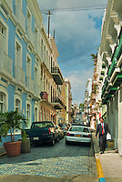Old San Juan, Historic Colonial Section, Puerto Rico, USA, Cobble Stone, Streets, Colorful, Houses