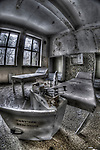 Abandoned lunatic asylum north of Berlin, Germany. Medical room.
