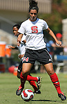 NC State's Meredith Parilla on Sunday, October 1st, 2006 at Koskinen Stadium in Durham, North Carolina. The Duke Blue Devils defeated the North Carolina State University Wolfpack 3-0 in an Atlantic Coast Conference NCAA Division I Women's Soccer game.