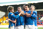 St Johnstone v Motherwell&hellip;20.02.16   SPFL   McDiarmid Park, Perth<br />Tam Scobbie celebrates his goal with Murray Davidson, Darnell Fisher, Joe Shaughnessy and David Wotherspoon<br />Picture by Graeme Hart.<br />Copyright Perthshire Picture Agency<br />Tel: 01738 623350  Mobile: 07990 594431