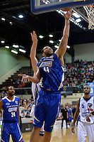 Elijah Obade in action during the NBL - Wellington Saints v Nelson Giants at TSB Bank Arena, Queens Wharf, Wellington, New Zealand on Friday  2 May 2014. <br /> Photo by Masanori Udagawa. <br /> www.photowellington.photoshelter.com.