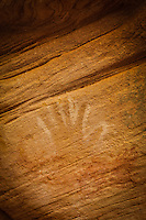 Monarch White Hand - Utah - Pictograph