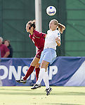 11 November 2007: North Carolina's Whitney Engen (right) and Florida State's Erika Sutton (6) battle for a header. The University of North Carolina defeated Florida State University 1-0 at the Disney Wide World of Sports complex in Orlando, FL in the Atlantic Coast Conference Women's Soccer tournament final.