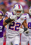 19 October 2014: Buffalo Bills running back Fred Jackson rushes for a 3-yard gain in the first quarter against the Minnesota Vikings at Ralph Wilson Stadium in Orchard Park, NY. The Bills defeated the Vikings 17-16 in a dramatic, last minute, comeback touchdown drive. Mandatory Credit: Ed Wolfstein Photo *** RAW (NEF) Image File Available ***