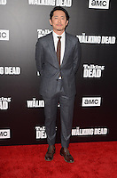 HOLLYWOOD, CA - OCTOBER 23: Steven Yeun at AMC Presents Live, 90-Minute Special Edition of 'Talking Dead' at Hollywood Forever on October 23, 2016 in Hollywood, California. Credit: David Edwards/MediaPunch