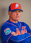 3 March 2016: New York Mets Manager Terry Collins sits in the dugout prior to a Spring Training pre-season game against the Washington Nationals at Space Coast Stadium in Viera, Florida. The Nationals defeated the Mets 9-4 in Grapefruit League play. Mandatory Credit: Ed Wolfstein Photo *** RAW (NEF) Image File Available ***