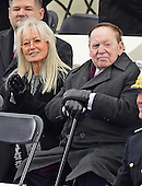 Sheldon Adelson, right, and his wife Miriam Adelson, left prior to the ceremony where Donald J. Trump is to be sworn-in as the 45th President of the United States on the West Front of the US Capitol on Friday, January 20, 2017.<br /> Credit: Ron Sachs / CNP<br /> (RESTRICTION: NO New York or New Jersey Newspapers or newspapers within a 75 mile radius of New York City)