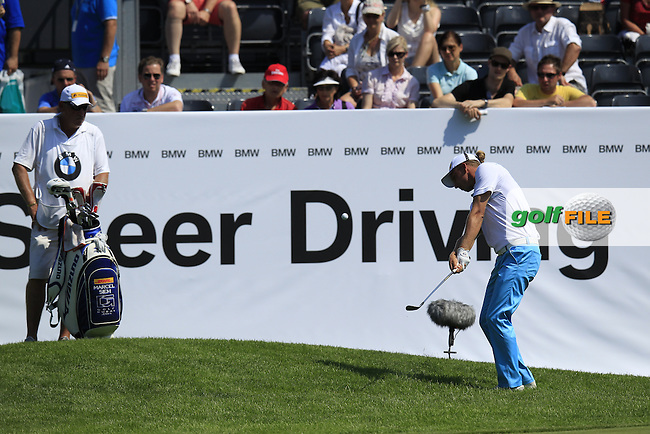 Marcel Siem (GER) chips onto the 18th green during Thursday's Round 1 of the 2013 BMW International Open held on the Eichenried Golf Club, Munich, Germany. 20th June 2013<br /> (Picture: Eoin Clarke www.golffile.ie)