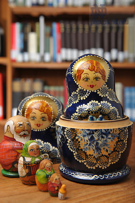 Russian nesting dolls, for Library Access Newsletter..Photo by Matt Cashore/University of Notre Dame