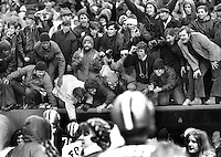 San Francisco 49er fans celebrate win..(photo 1970's,<br />