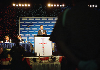 Candidate for president Mitt Romney speaks at the Veterans of Foreign Wars national convention, Tuesday, Aug. 30, 2011, in San Antonio. (Darren Abate/pressphotointl.com)