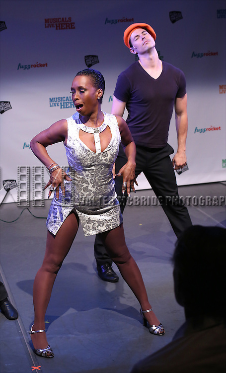 Brenda Braxton from 'WikiMusical' performs in a special preview of the 2014 New York Musical Theatre Festival (NYMF) at Ford Foundation Studio Theatre in The Pershing Square Signature Center on July 2, 2014 in New York City.