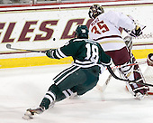 Brandon McNally (Dartmouth - 18), Parker Milner (BC - 35) - The Boston College Eagles defeated the visiting Dartmouth College Big Green 6-3 (EN) on Saturday, November 24, 2012, at Kelley Rink in Conte Forum in Chestnut Hill, Massachusetts.
