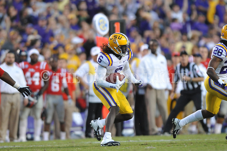 LSU safety Craig Loston (6) intercepts against Ole Miss at Tiger Stadium in Baton Rouge, La. on Saturday, November 17, 2012. LSU won 41-35.....