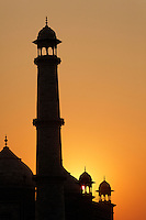 Taj Mahal at sunset, Agra, India.