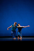 "Maile Okamura and Dallas McMurray of Mark Morris Dance Group performs ""Rock of Ages"" Friday, July 27th 2012 at DPAC in Durham."
