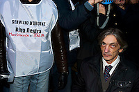 Roma, 4 Gennaio 2011.Sit-in dei partiti contro la decisione  del Brasile di non concedere l'estradizione all'ex terrorista dei Pac (Proletari Armati per il Comunismo)  Cesare Battisti condannato a quattro ergastoli per omicidio.Alberto Torregiani (figlio del gioielliere assassinato da Battisti nel 1979) .Rome, January 4, 2011.Sit-in  of the Political parties, in front of the Embassy of Brazil in Piazza Navona, for the decision of Brazil, not to grant the extradition of former terrorist Pac (Armed Proletarians for Communism), Cesare Battisti was sentenced to four life sentences for murder.