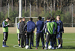 10 December 2009: The University of Akron Zips held a training session at Koka Booth Stadium at WakeMed Soccer Park in Cary, North Carolina on the day before playing North Carolina in an NCAA Division I Men's College Cup semifinal game.