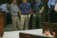 MK Ayelet Shaked during a plenum session voting on the state budget, in the Knesset, Israel's Parliament, in Jerusalem, late night July 29, 2013. The Knesset approved the State Budget at second and third readings in the early hours of Tuesday morning in a 58-43 vote, following a 15-hour parliamentary session. Photo by Oren Nahshon