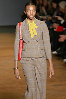 Georgie Badiel walks runway in an outfit from the Marc by Marc Jacobs Fall/Winter 2011 collection, during New York Fashion Week, Fall 2011.