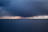 Autumn storm clouds over Vestfjord, Lofoten islands, Norway