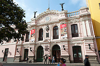 Photograph of the Casa de la Gastronomía Peruana (House of Peruvian Gastronomy) in downtown Lima. The museum exhibits explore Peruvian culinary history.