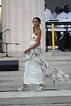 "Model wearing designs by Elizabeth Carson Racker at ""A Great Day In Harlem"" Urban Fashion Fusion Showcase, NY 7/25/10"