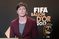 Fussball International  FIFA Ballon d Or / Weltfussballerin 2012    Pressekonferenz   07.01.2013 Abby Wambach (USA)