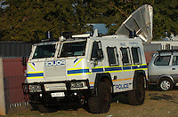 South African authorities were ready for any possibility with the heavy presence of riot equipment at the USA-England match. The U.S. and England played to a 1-1 draw in the opening match of Group C play at Rustenburg's Royal Bafokeng Stadium, Saturday, June 12th.