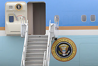 ATLANTA, GA - AUG 2, 2010: Air Force One at Dobbins Air Reserve Base in Marietta, Georgia.