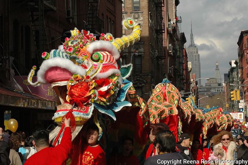 Chinese new year parade new york city ny