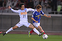 Takahide Umebachi (Antlers), Manabu Saito (F Marinos), MARCH 31, 2012 - Football / Soccer : 2012 J.LEAGUE Division 1 between Yokohama F Marinos 0-0 Kashima Antlers at NISSAN Stadium, Kanagawa, Japan. This game was celebrated as a 20th Anniversary Match involving two of the original teams that featured when the J.League launched. Traditionally one of the favourites, Kashima have not scored yet in their first 4 games of the season. (Photo by Atsushi Tomura /AFLO SPORT) [1035]
