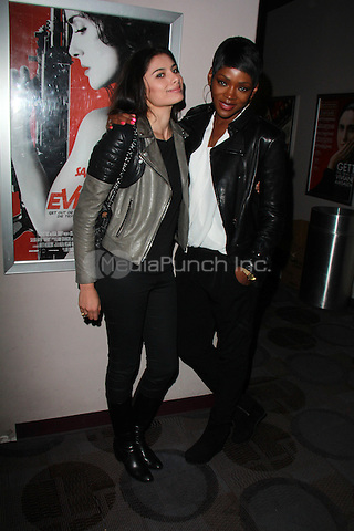 """BEVERLY HILLS, CA - FEBRUARY 28: Gabriella Wright, Caroline Chikezie at the """"Everly"""" Opening Weekend Splatter-Ganza at Laemmle's Music Hall, Beverly Hills, California on February 28, 2015. Credit: David Edwards/DailyCeleb/MediaPunch"""