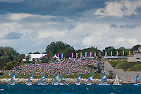 4000 paying spectators each day.Finn class.2012 Olympic Games .London / Weymouth