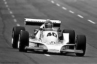 HAMPTON, GA - APRIL 22: Wally Dallenbach drives his Penske/Cosworth TC during the Gould Twin Dixie 125 event on April 22, 1979, at Atlanta International Raceway near Hampton, Georgia.