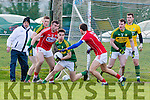 Brian Begley Kerry sweeps up in the Kerry box against Cork during the McGrath cup clash in Mallow on Sunday