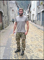 BNPS.co.uk (01202 558833)<br /> Pic: TimelessDeception/BNPS<br /> <br /> Pyrenees 2016.<br /> <br /> A hardened medic in the Special Boat Service has made a drastic career change - after starting out as a professional magician. <br /> <br /> Steel Johnson quit his 10 year military career after enduring two hellish tours of Iraq and Afghanistan.<br /> <br /> The 32-year-old is now fulfilling his childhood dream of performing magic full-time. <br /> <br /> Steel, whose real name is James, has practiced sleight of hand tricks since the age of nine.