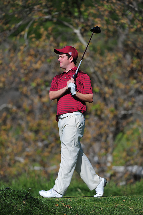 April 18, 2012; Hollister, CA, USA; Loyola Marymount Lions golfer Jake Sarnoff during the WCC Golf Championships at San Juan Oaks Golf Club.