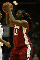 27 March 2006: Eziamaka Okafor during Stanford's 62-59 loss to LSU during the NCAA Women's Basketball tournament Elite Eight round in San Antonio, TX.