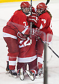 Lauriane Rougeau (Cornell - 7), Erin Barley-Maloney (Cornell - 22), Hayleigh Cudmore (Cornell - 24) - The Boston College Eagles defeated the visiting Cornell University Big Red 4-3 (OT) on Sunday, January 11, 2012, at Kelley Rink in Conte Forum in Chestnut Hill, Massachusetts.
