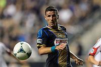 Sebastien Le Toux (11) of the Philadelphia Union. The Philadelphia Union defeated D. C. United 2-0 during a Major League Soccer (MLS) match at PPL Park in Chester, PA, on August 10, 2013.