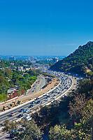 Los Angeles, CA, Interstate, 405, Freeway, Sepulveda pass, , Vertical Image
