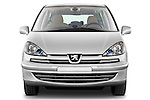 Straight front view of a 2011 Peugeot 807 SV Executive Minivan Stock Photo