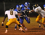Water Valley's E.J. Bounds (5) runs vs. Charleston in Water Valley, Miss.  on Friday, September 16, 2011.