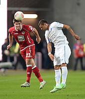 FUSSBALL 1. BUNDESLIGA   SAISON   2012/2013: RELEGATION   RUECKSPIEL 1. FC Kaiserslautern - TSG 1899 Hoffenheim         27.05.2013 Florian Dick (li, 1. FC Kaiserslautern) gegen Sejad Salihovic (re, TSG 1899 Hoffenheim)
