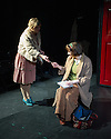 London, UK. 21.02.2014. THE A TO Z OF MRS P has its world premiere at Southwark Playhouse.  The story behind the handy, all-purpose, pocket-sized A-Z Street Guide is written by Diane Samuels (book) and Gwyneth Herbert (music and lyrics). <br />  Starring ISY SUTTIE (Peep Show / Shameless) in her first musical, as the pioneering Mrs P; with Tony Award winner FRANCES RUFFELLE (Les Miserables, Pippin, Piaf) as her emotionally fragile mother; and Olivier Award winner MICHAEL MATUS (Martin Guerre, The Baker's Wife, The Sound Of Music) as Phyllis&rsquo;s beloved and impossible father, the map publisher Sandor Gross. Directed by Sam Buntrock. Picture shows: Dawn Sievewright (Esme) and Isy Suttie (Mrs P). <br /> Photograph &copy; Jane Hobson.
