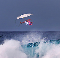 "Joel ""Parko"" Parkinson, Australian surfing champion, at 2006 Rip Curl Pro Pipe Masters, Banzai Pipeline on North Shore of Oahu."