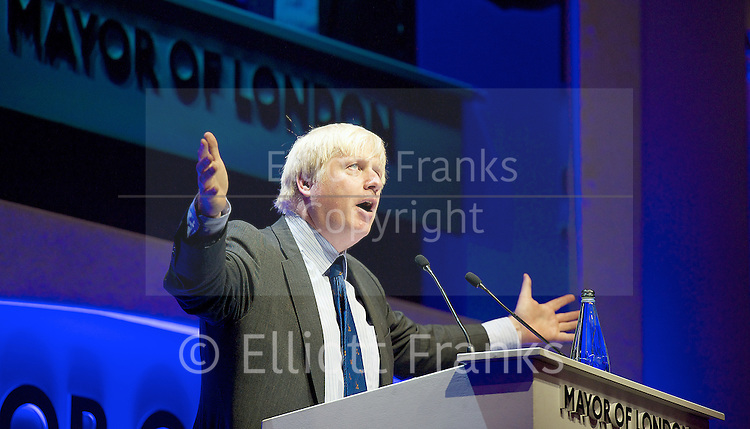 The State of London Debate 2014 <br /> at the Indigo 2, O2 Arena, Greenwich, London, SE10 , Great Britain <br /> 25th June 2014 <br /> <br /> Mayor of London Boris Johnson <br /> Answering London's biggest questions <br /> Hosted by LBC Radio presenter Nick Ferrari