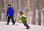 Emma and Crested Butte Snowboard instructor.Michele Lohman