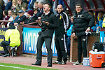 Hearts v St Johnstone....06.05.12   SPL.Steve Lomas appeals to his players to start playing.Picture by Graeme Hart..Copyright Perthshire Picture Agency.Tel: 01738 623350  Mobile: 07990 594431